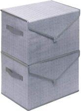 Large Storage Bins Set, Fabric Storage Baskets Pack of 2 Foldable Storage Box Cu