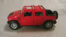 2005 Hummer H2 SUT Pick Up In A Red 140 Scale Diecast From Kinsmart   New  dc813