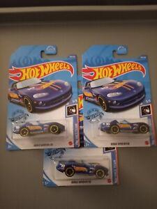 Hot Wheels 2020 Blue Dodge Viper RT/10 Q Case Treasure Hunt 2021 Lot of 3