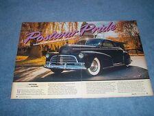 "1946 Chevy Fleetmaster Coupe Custom Article ""Postwar Pride"""
