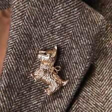 Delicate Rhinestone Dog Animal Metal Brooch Lapel Collar Pin Fashion Jewelry