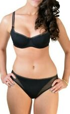 Black Underwired foam lined Full Cup Bra OR Briefs Knickers lingerie set 36D 10