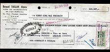"ORAN (ALGERIE) VINS & SPIRITUEUX ""Bernard TAILLAN"" Timbre fiscal Algerien en1948"