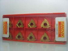 10x Sandvik r166.og-16wh01-080 1020 placas de inflexión plaquitas
