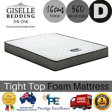 Bonnell Spring Mattress Double Size Medium Firm Tight Top Foam 16cm Thick Soft