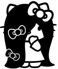 Hello Kitty Emo,Rock,Punk,Vinyl Decal,Sticker for Cars,Windows,Laptops and more