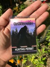 Sasquatch Hunting Permit / Fun Gifts For Kids / Sasquatch Gifts *Sasquatch
