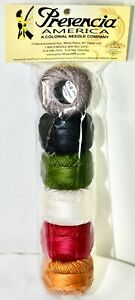 Presencia Finca Perle Cotton ~ Size #5 ~ Thread Folk Art Sampler, set of 6