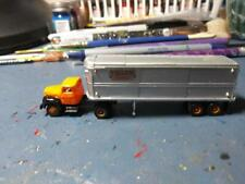 RARE- N SCALE -  YELLOW TRANSIT CO. - CMW - IH R-190 TRACTOR & 32' TRAILER