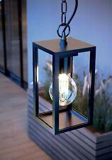 CGC 20W Black Aluminium Contemporary Hanging Ceiling Porch Light Outdoor IP54