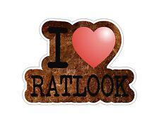 I love RATLOOK - Aufkleber Sticker Decal - 10cm Rat Look Ratte Tuning Sickerbomb