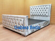 Hampton Crushed Velvet Bed 4ft6 double crushed velvet bed with diamante. UK made