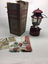 Vintage Coleman 200A Burgundy Red 10/61 Camping Lantern
