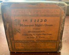Antique Rare Aeolian Pipe-Organ Player Piano Roll 51120 Midsummer Night's Dream