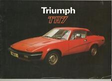 Triumph TR7 brochure mai 1978