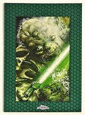 2015 Star Wars Chrome Perspectives Jedi vs. Sith Yoda Sketch 1/1 Mick Matt Glebe