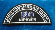 CANADA Royal Canadian Air Cadets NIPAWIN 190 squadron shoulder flash badge