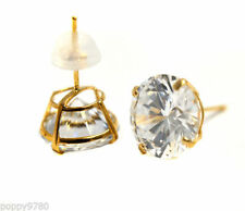 18k Yellow Gold Plated Cubic Zirconia Costume Earrings