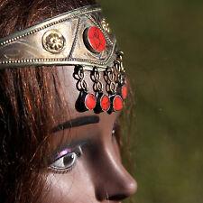 Goldplated Turkoman Tribal CROWN Handmade Headpiece BellyDance Pink Coral 619w4