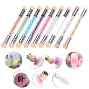 Dual-ended UV Gel Painting Nail Gradient Brush Nail Art Sponge Pen Decors Tool