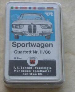 Auto Quartett Sportwagen II/86 FX Schmid 1966 komplett