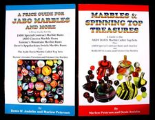 """20% OFF!!! """"A PRICE GUIDE FOR JABO MARBLES"""" & """"MARBLES & SPINNING TOP TREASURES"""""""