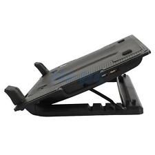 "USB Notebook Laptop Cooling Pad Quiet 1 Fan 9-17"" Adjustable Stand Pad Black"