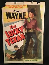 The Lucky Texan 1940 One Sheet Movie Poster Cowboy Western John Wayne Country