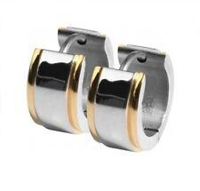 Titan Titanium Klappcreolen Kreolen Ohrringe vergoldet Silber Damen Herren Paar