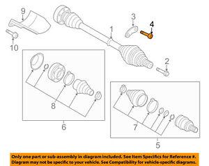 AUDI OEM 09-18 TT Quattro Drive Axles-Front-Plate Bolt N90991102