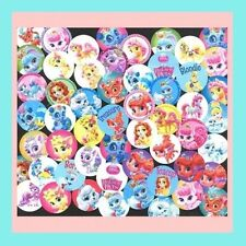 100 Precut assorted Disney PRINCESS PALACE PETS 1 inch Glossy BOTTLE CAP IMAGES