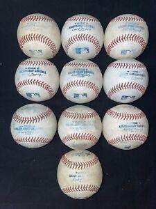 MLB baseballs. Game Used Rawlings Offical Major League Baseballs lot of 10