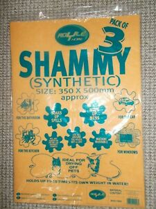 SYNTHETIC SHAMMY PACK OF 3 - BY ROYLE HOME - IDEAL FOR MULTIPLE USES