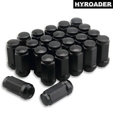 "24pc Black 1.8"" Tall Extended 14x1.5 Wheel Lug Nuts for Cadillac CTS 2008-2018"