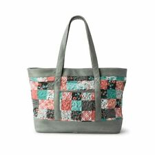 d25ece69c Donna Sharp Melon MINT Megan Large Tote Bag Handbag Floral Teal Peach Grey