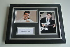 Cliff Richard Signed A4 FRAMED photo Autograph display Music Memorabilia & COA