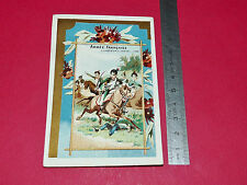 RARE CHROMO 1890-1900 CHICOREE A LA MAGICIENNE FRESNES CHASSEUR A CHEVAL ARMEE