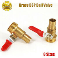 BSP Brass Ball Valve Male Thread Hose Tail End Connector Pipe Fittings Tubing AU