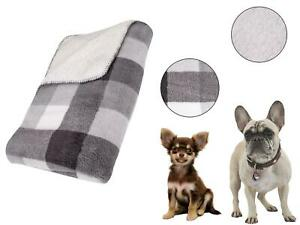 Dog Blanket Pet Throw Warm Bed Cover Sherpa Fluffy Comforter Cat Fleece Grey
