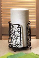 Paper Towel Holder Metal Stand Tabletop Stylish Sturdy Kitchen Unique Decor