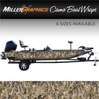 "Camo Boat Wrap Kit ""Tall Grass"" 3M Cast Vinyl - 6 Sizes Available"