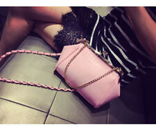 Japan Style Alligator Pattern Chain Mini Shoulder Bags -Pink (AFK110807)