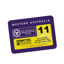 ZOMBIE HUNTING REGISTRATION WA JDM Sticker Decal Car  #0211A
