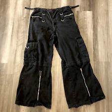 Tripp NYC Mens Size M Punk Goth Cargo Pants Zippers Daang Goodman