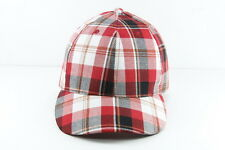 RETRO PLAID WHITE/RED BASEBALL STYLE HAT UNIQUE STATEMENT NEW(HT22)