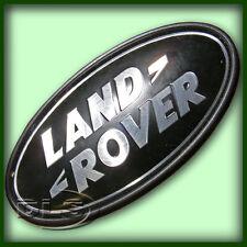Range Rover L322-Noir sur silver Land Rover Badge (dah500330)