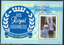 DOMINICA 2013 THE BIRTH OF PRINCE GEORGE S/SHEET WITH KATE & WILLIAM  MINT NH