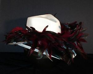 Atlanta Falcons Feather Team Colors Cowboy Hat - $100 Gift Card with Purchase