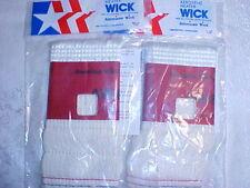 """Two KEROSENE HEATER WICKS AW-8 ~ 3-3/8"""" x 6-1/2"""" by American Wick"""