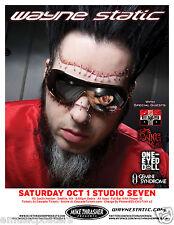 WAYNE STATIC / KYNG 2011 SEATTLE CONCERT TOUR POSTER - Industrial Metal Music